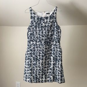 J. CREW Blue White Stars Print Cotton Mini Dress
